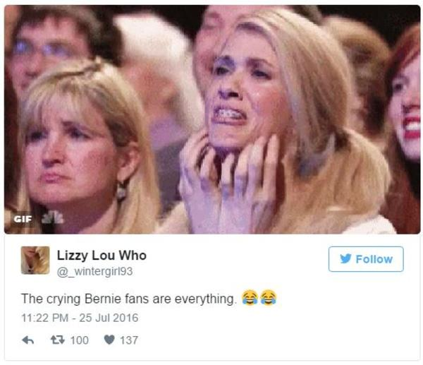 c78 crying bernie sanders supporters know your meme,Hillary Supporters Crying Meme