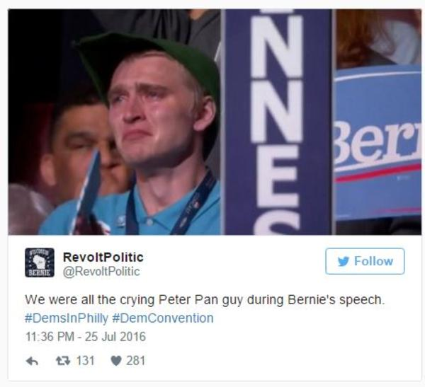 f0b crying bernie sanders supporters know your meme,Hillary Supporters Crying Meme