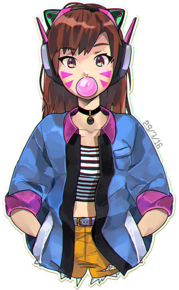 Bubblegum DVa Overwatch Know