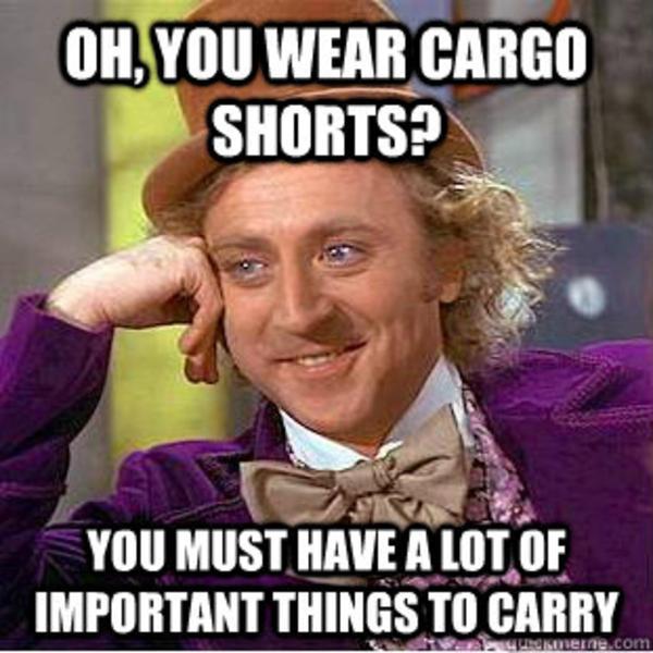 0f0 cargo shorts know your meme,Cargo Shorts Meme