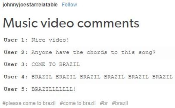 Music video comments by Tumblr user johnnjoestarrelatable ...
