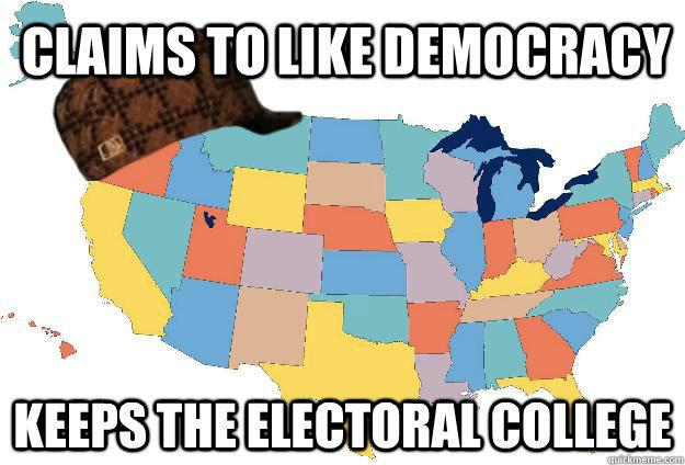98b scumbag steve electoral college map parodies know your meme,Electoral College Memes