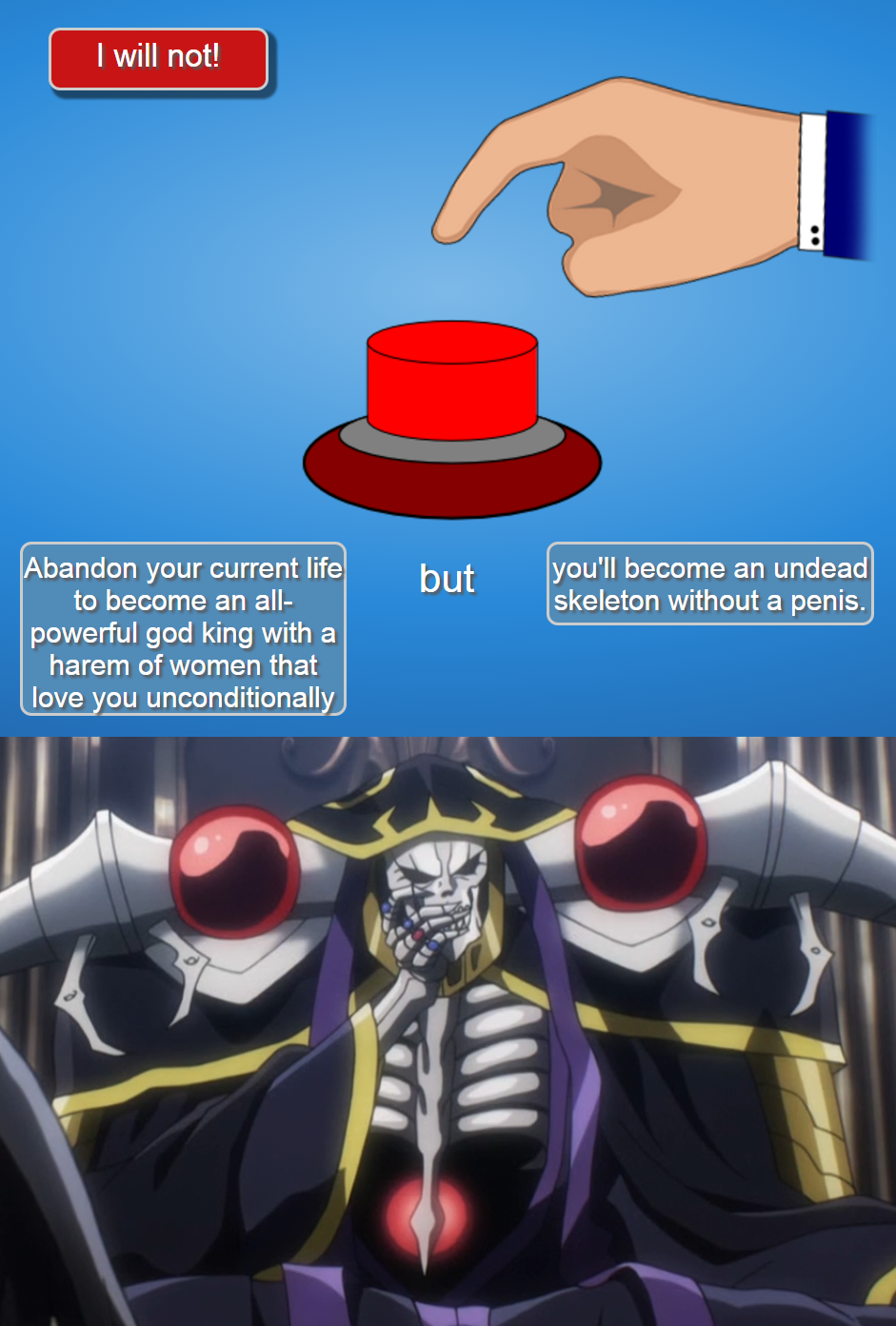 Press the Button to Become Overlord | Will You Press The ...