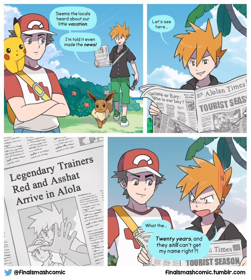This Is Red S Legacy Pok 233 Mon Sun And Moon Know Your Meme