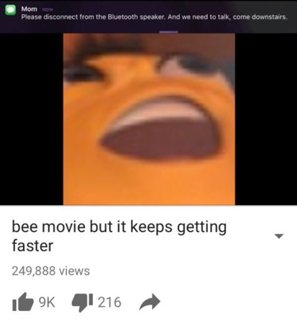 Bee Movie But It Keeps Getting Faster Meme
