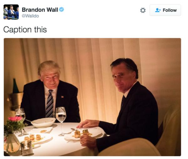 f99 trump romney dinner photo know your meme