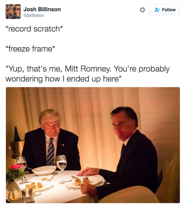 b1f trump romney dinner photo know your meme