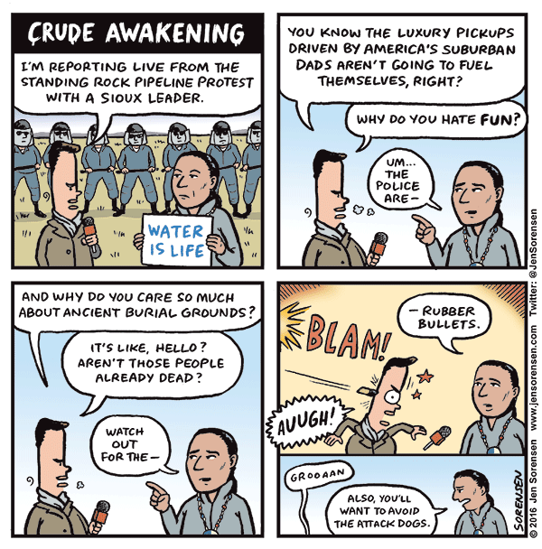 1b2 cartoon by jen sorensen dakota access pipeline protests know