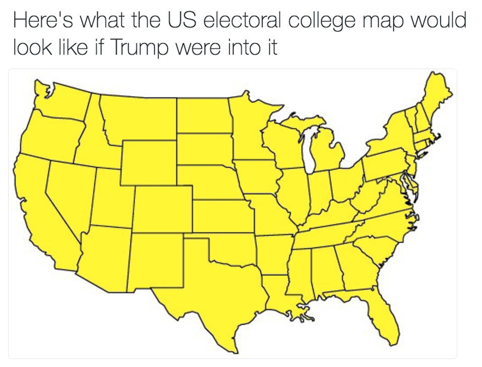 Us Electrocollege Map Globalinterco - Us map electoral college