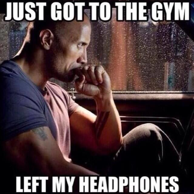 c48 the rock when you forget your headphones know your meme