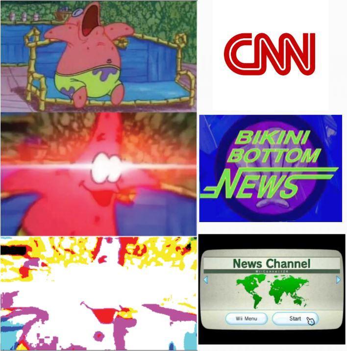 Latest News Channel: Patrick Star Reacts To CNN / Bikini Bottom News / Wii News