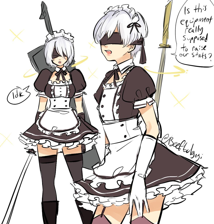 Dlc Costumes When Nier Automata Know Your Meme
