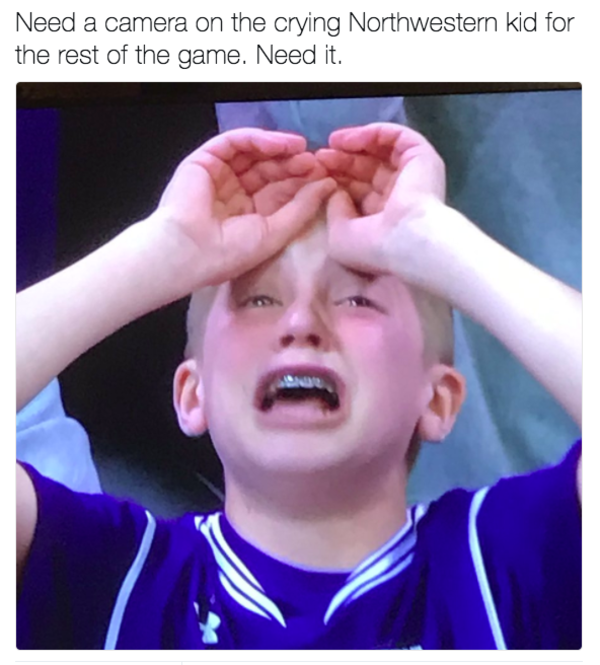11d crying northwestern kid know your meme
