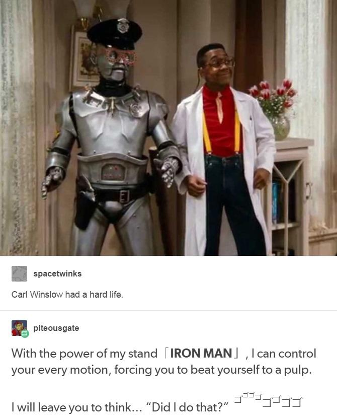 32c iron man」 jojo's bizarre adventure know your meme