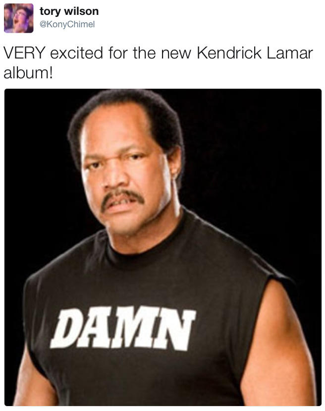 f17 very excited for the new kendrick lamar album! kendrick lamar
