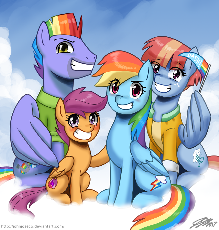 rainbow dashs family by johnjoseco my little pony