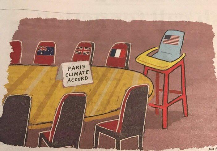 Baby Gets His High Chair Paris Climate Agreement