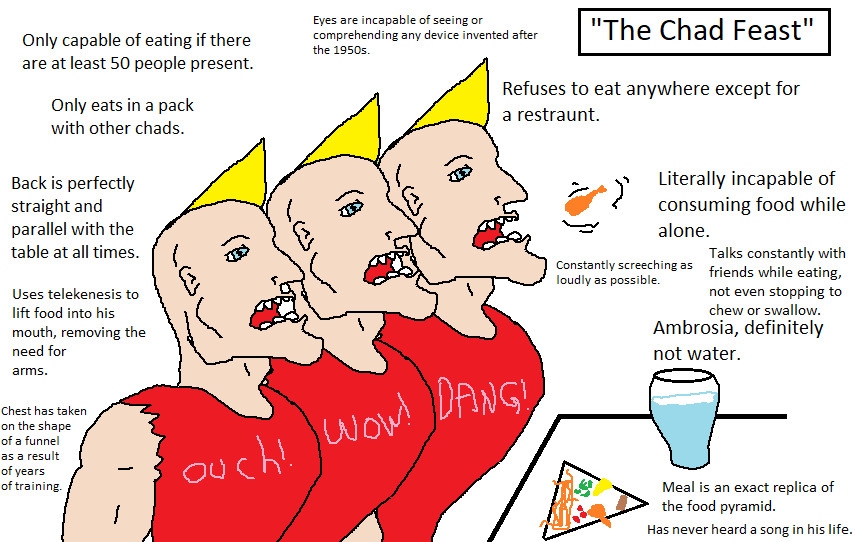 The Chad Feast   Virgin Walk   Know Your Meme