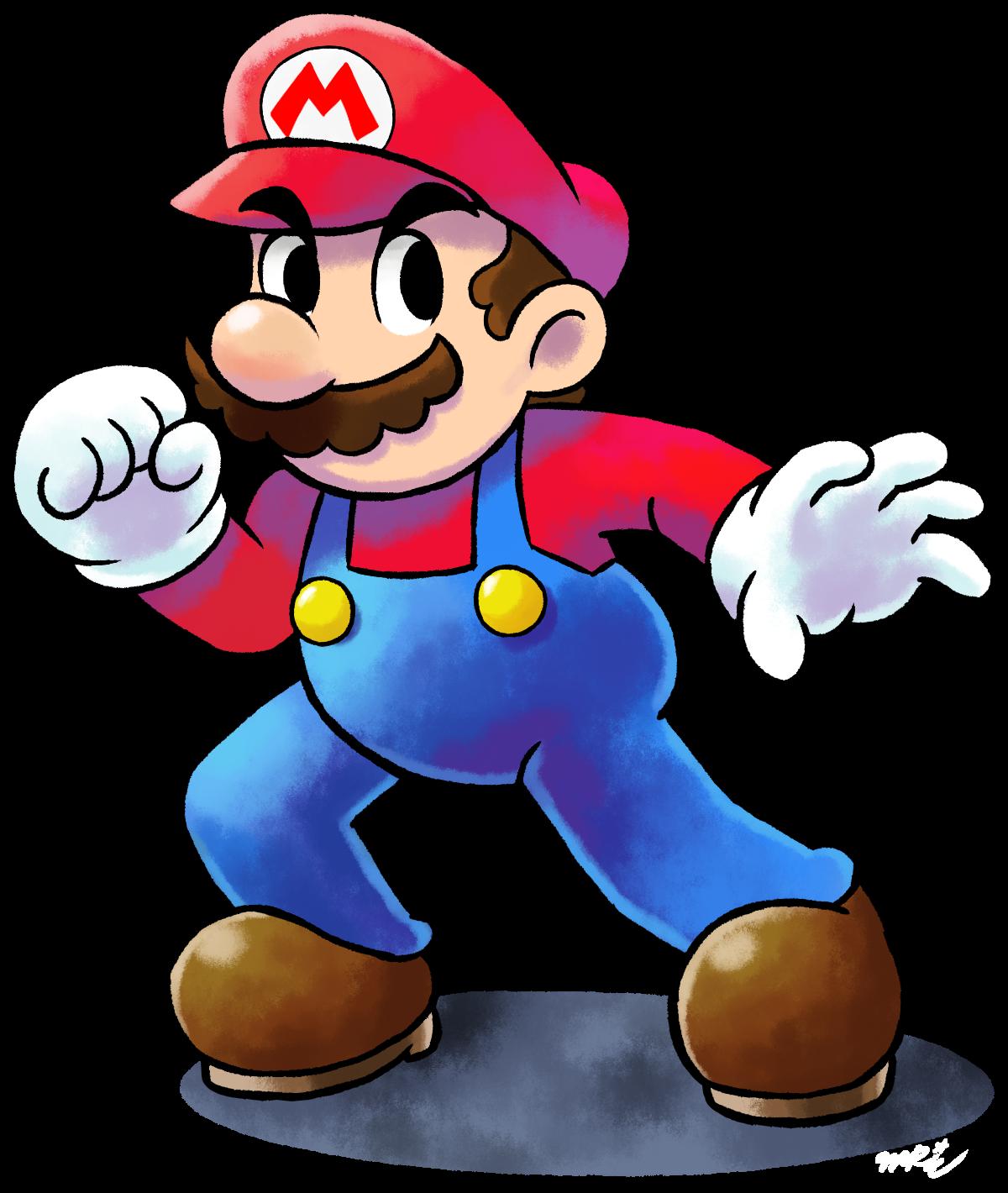 ''Mario+Luigi'' RPG Style: Mario [SSB4 Pose] By Master