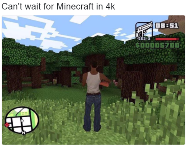 cant wait for minecraft in 4k 283 5 - Minecraft Japanese Tree