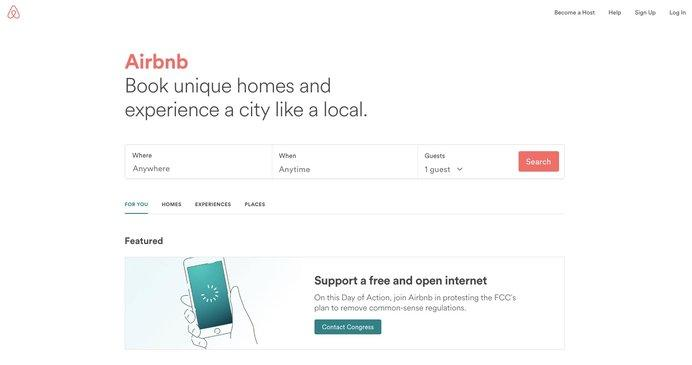 airbnb notice day of action to save net neutrality know your meme. Black Bedroom Furniture Sets. Home Design Ideas