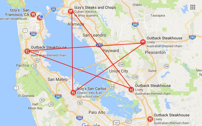 Bay Area Outback Pentagram Outback Steakhouse Satanic Cult - Pentagram on us map