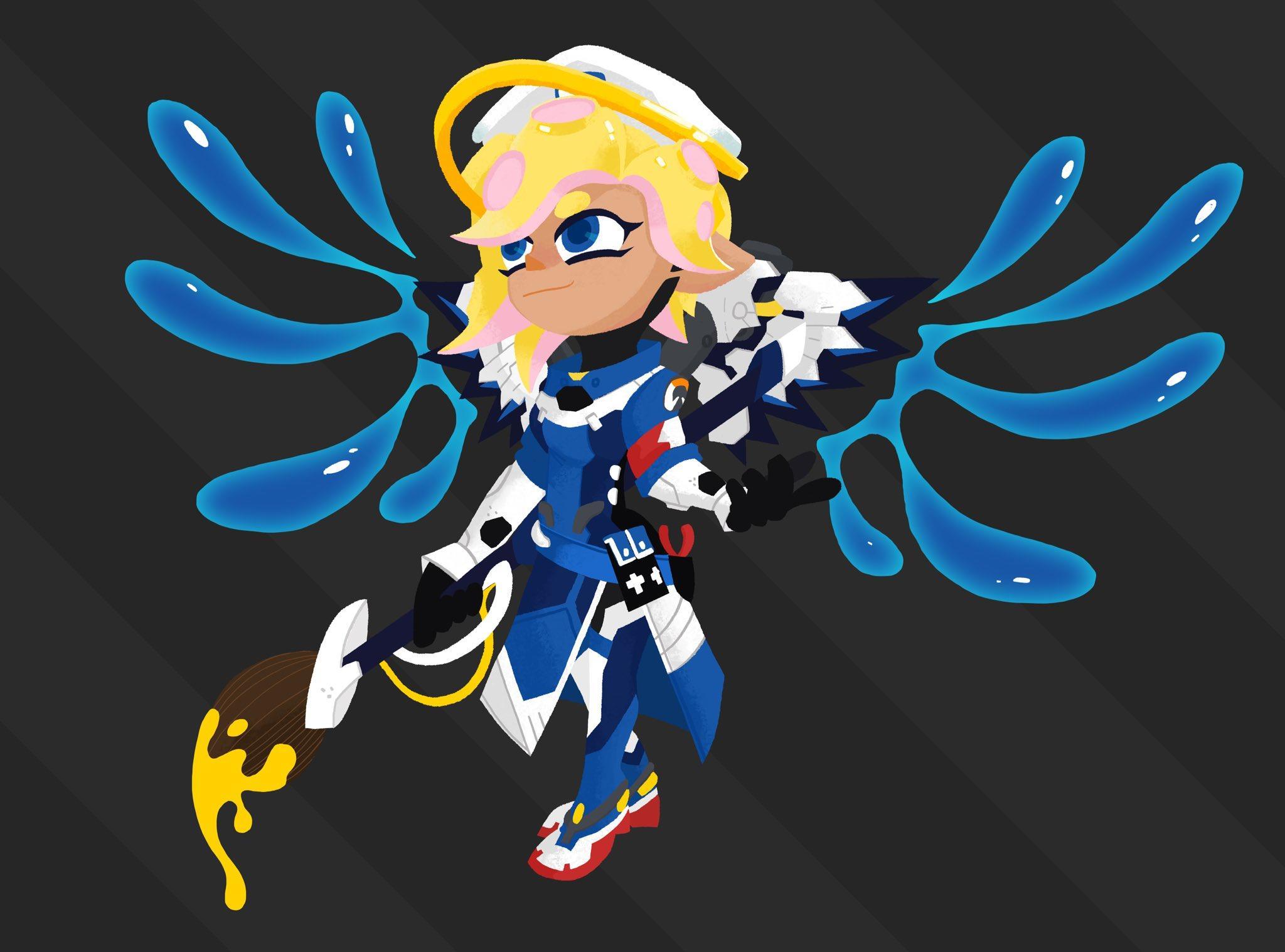 Combat Medic Octo-Mercy   Splatoon