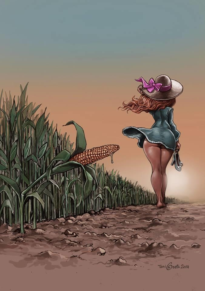 ef3 woman with dripping corn country girls make do know your meme