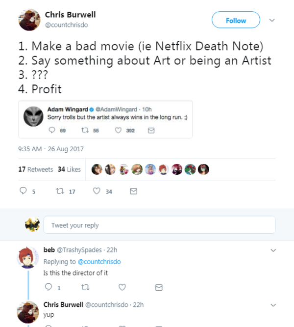 The Director Of The Netflix Death Note Movie Reacts To The