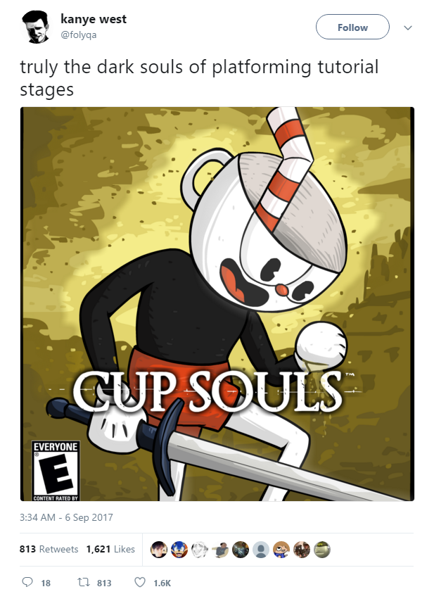 Image result for cuphead game over meme