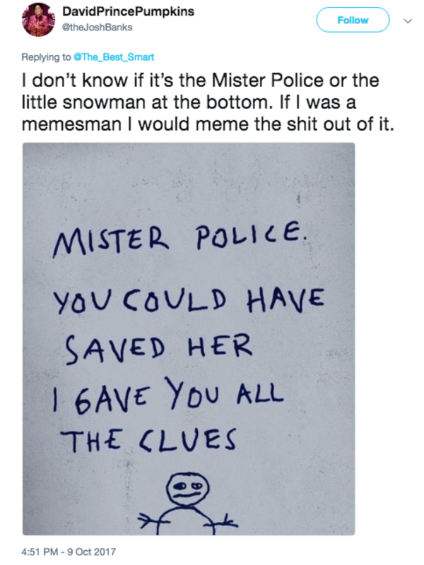 f0b i gave you all the clues hello mister police know your meme
