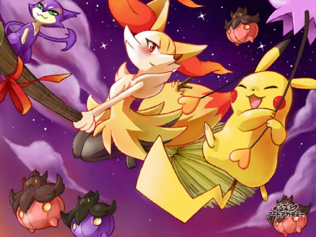 Braixen on a Broomstick for Halloween | Pokémon | Know Your Meme