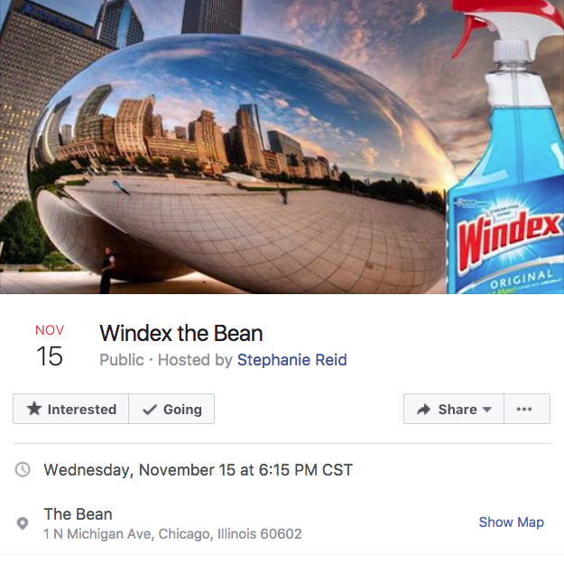 ab4 windex the bean chicago bean facebook events know your meme
