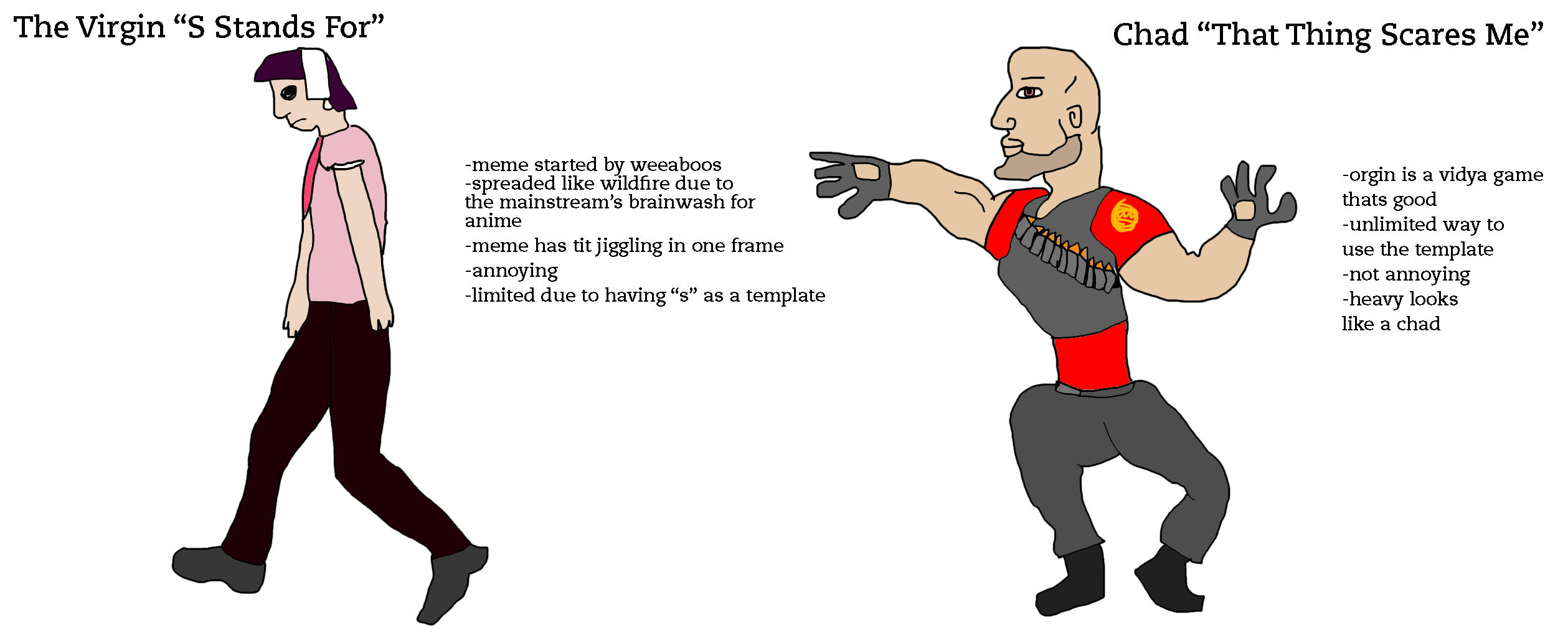 S is For VS. That thing scares me   Virgin vs. Chad   Know ...