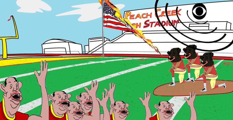 la football protest de americanus