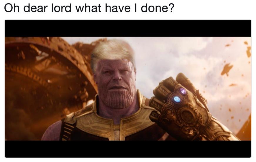 Donald Trump Thanos