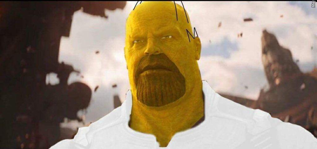Homer Simpson Thanos