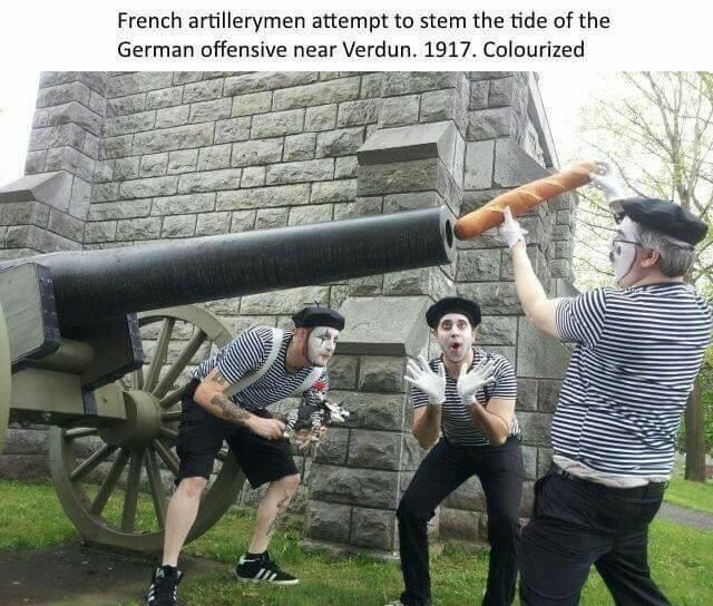French Artillery Verdun Fake History Know Your Meme