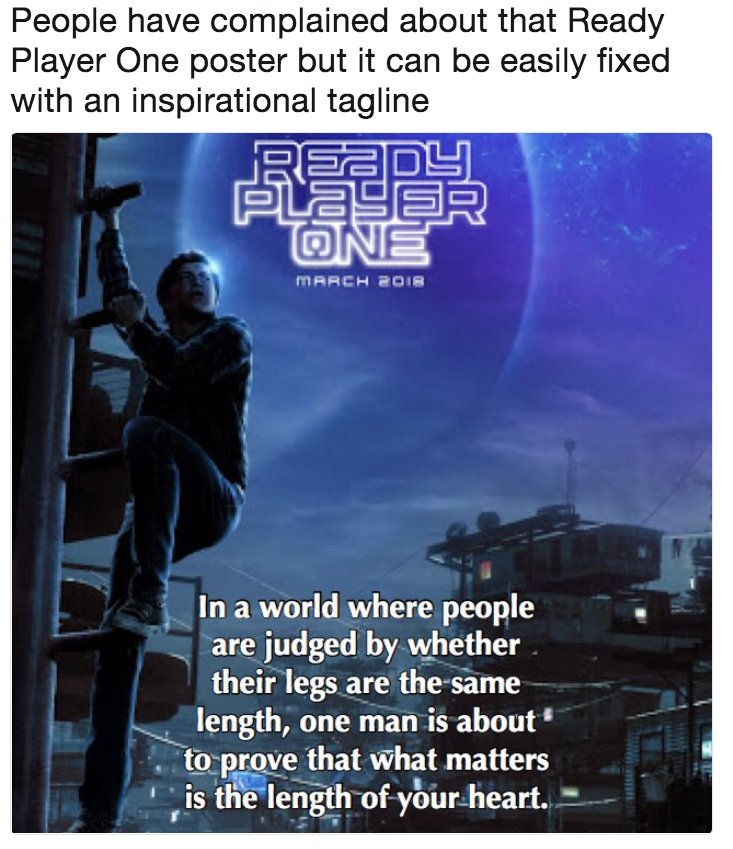 People Have Complained About That Ready Player One Poster