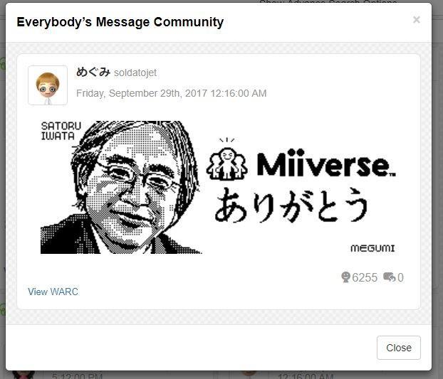 the last miiverse post