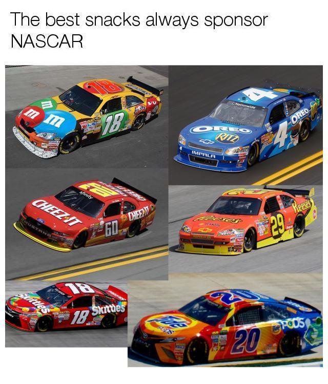 Al Franken Memes >> The best snacks always sponsor NASCAR | Eating Tide PODS | Know Your Meme