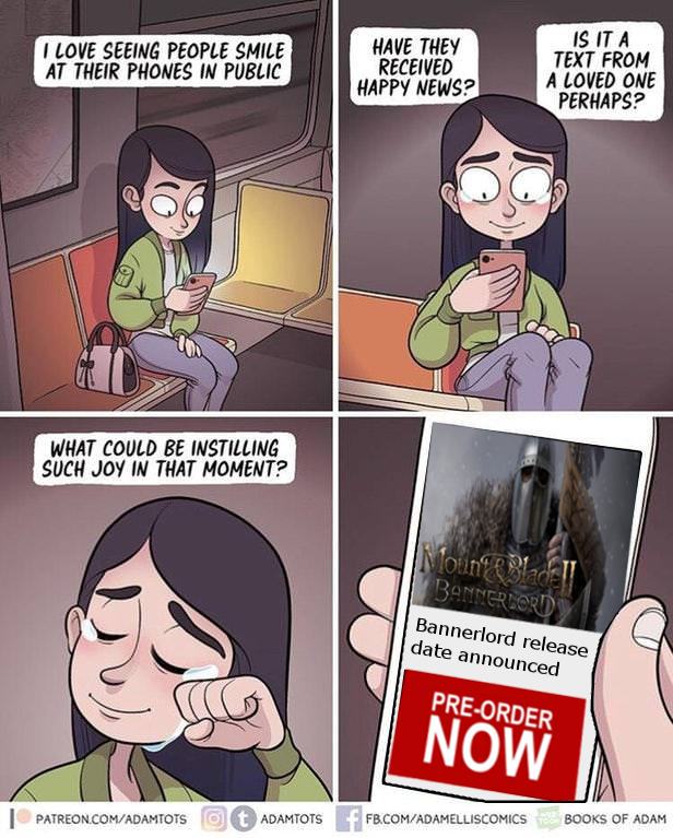 Bannerlord Release Date Announced I Love Seeing People