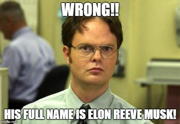 Musk S Actual Name Elongated Muskrat Know Your Meme