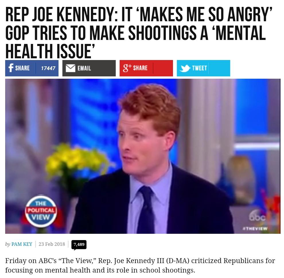 Democrats: Shooting Up Kids Is Not A Mental Health Issue