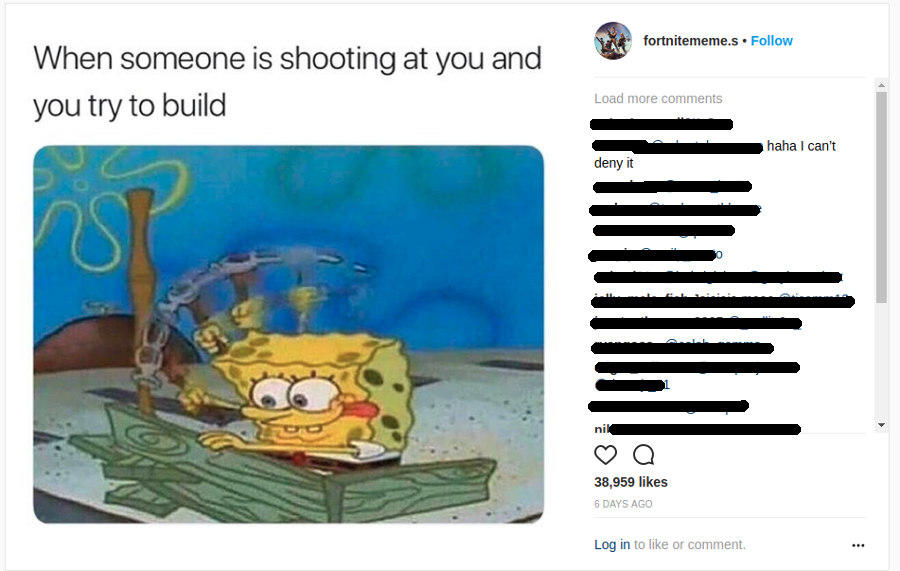 Bruno Mars Review >> Frantic building when being shot at - spongbob | Fortnite | Know Your Meme