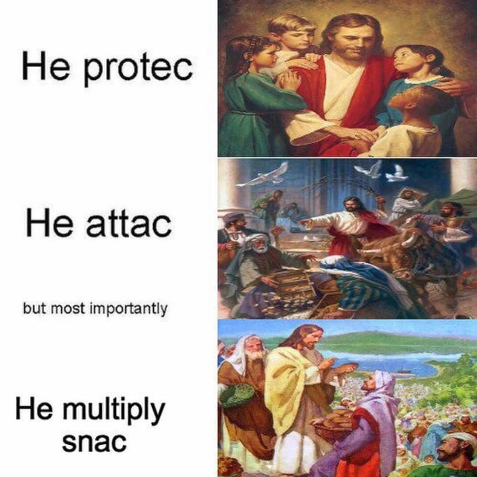 He Protec, He Attac, But Most Importantly He Multiply Snac