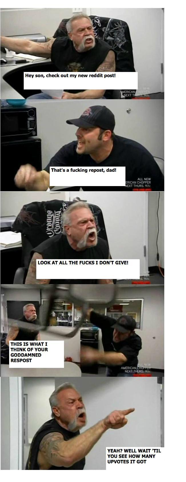 Repost American Chopper Argument Know Your Meme