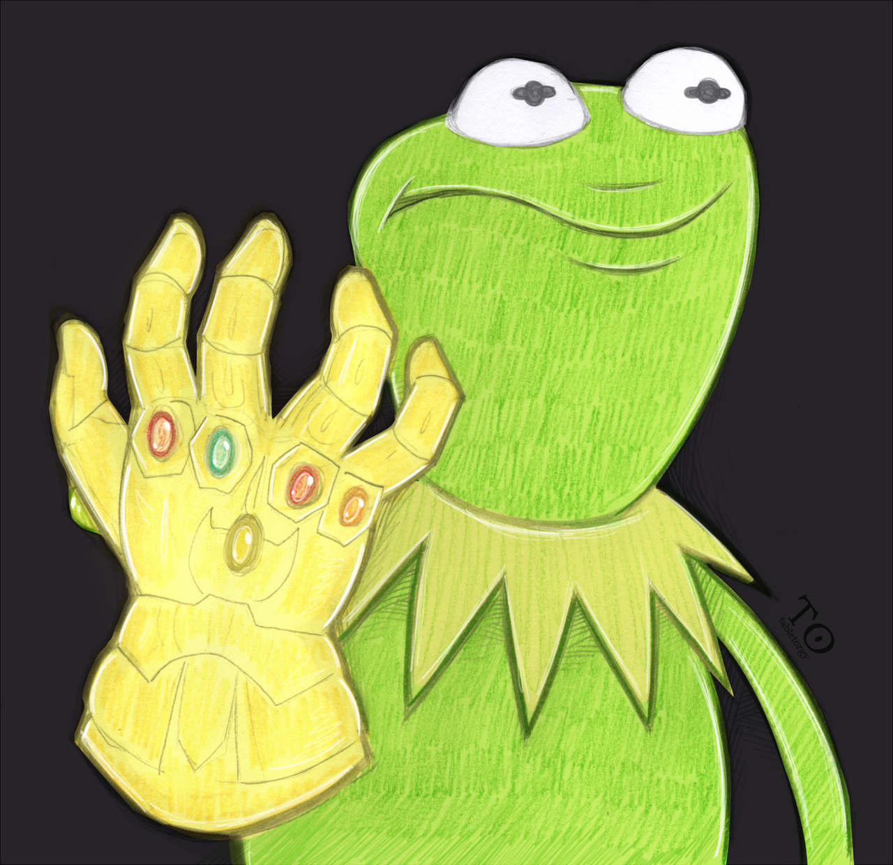 Kermit With The Infinity Gauntlet Kermit The Frog Know