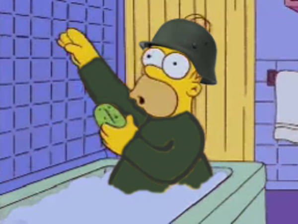 Nazi Homer Soldier | Bart Hits Homer With a Chair | Know ...