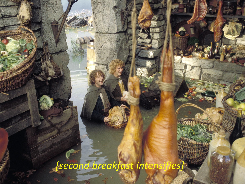Second Breakfast Intensifies   [Intensifies]   Know Your Meme